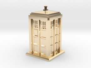 TT Gauge - Police Box in 14k Gold Plated Brass
