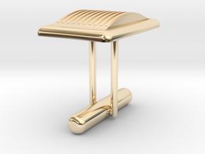 Cufflink Special 3 in 14k Gold Plated Brass