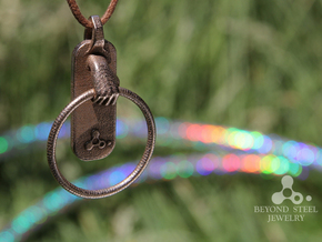 HulaHoop Pendant in Polished Bronzed Silver Steel