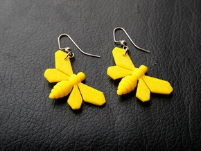 Breaking Bad Bee Earrings in Yellow Strong & Flexible Polished