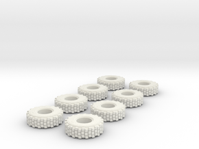 Hemtt Tires 1/48 in White Natural Versatile Plastic