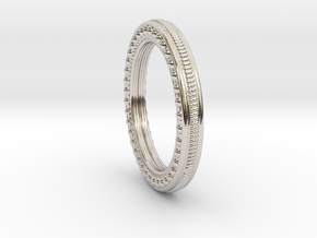 Lering Delta Size 5.5 in Rhodium Plated