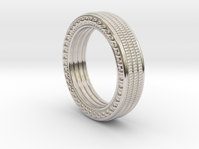 Lering Epsilon Size 11 in Rhodium Plated