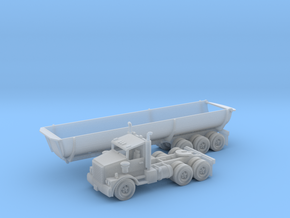 40' Cylinder Dump Bed Z Scale in Smooth Fine Detail Plastic