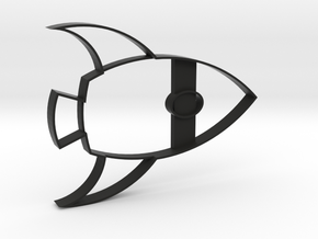 Rocketship Cookie Cutter in Black Strong & Flexible
