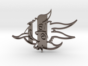 Krampus Cookie Cutter in Polished Bronzed Silver Steel