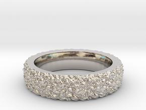 Rugged Beauty Size-8 in Rhodium Plated Brass