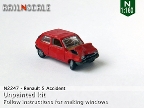 Renault 5 Accident (N 1:160) in Smooth Fine Detail Plastic