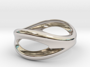 Bracelet Mouth 73 in Rhodium Plated Brass