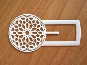Mudejar Bookmark in White Processed Versatile Plastic