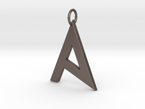 A  in Polished Bronzed Silver Steel