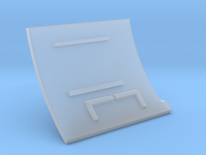 F14A-Left Wall in Smooth Fine Detail Plastic