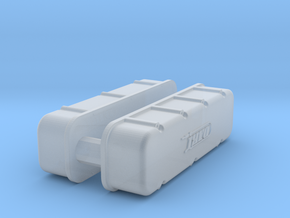 1/32 BBC Dart Logo Valve Covers in Smooth Fine Detail Plastic