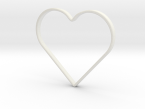 Hand Heart Saftyring in White Natural Versatile Plastic
