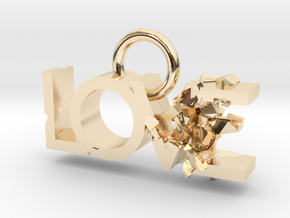 Broken Love in 14k Gold Plated Brass