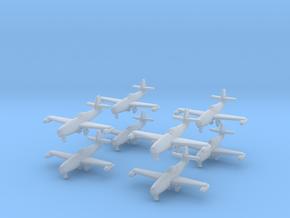 1/700 Yakovlev Yak-23 (landing gear down) x8 in Smooth Fine Detail Plastic