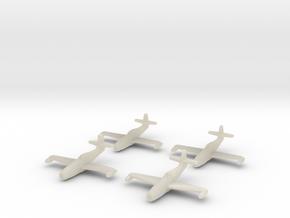 1/350 Yakovlev Yak-23 (landing gear up) x4 in White Acrylic