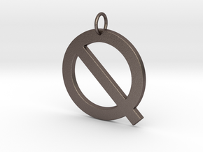 Q in Polished Bronzed Silver Steel