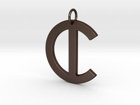C in Matte Bronze Steel