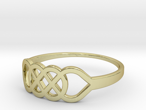 Size 7 Knot C1 in 18k Gold Plated Brass