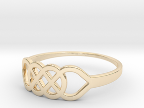 Size 10 Knot C1 in 14k Gold Plated Brass