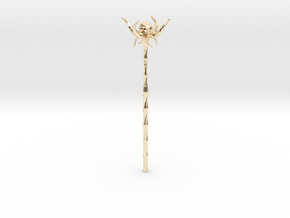 Floating Crystal Staff in 14K Yellow Gold