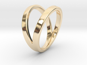 Split Ring Size US 8 in 14k Gold Plated Brass