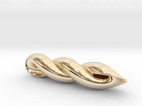 mathematical embrace  in 14k Gold Plated Brass