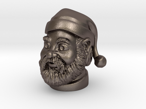 Santa Claus  in Polished Bronzed Silver Steel