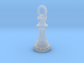 Chess Queen Pendant in Smooth Fine Detail Plastic