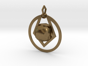 CODE: PWR02 - PENDANT in Natural Bronze