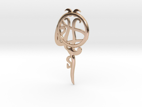 Pisces[Constellation Magic Series] - Key Style in 14k Rose Gold Plated Brass