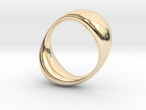 Double Globe Ring in 14k Gold Plated Brass: 6 / 51.5