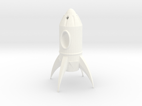 Fallout Rocket Keyring (Practical) in White Processed Versatile Plastic