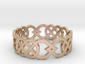 Size 8 Knot C3 in 14k Rose Gold Plated Brass