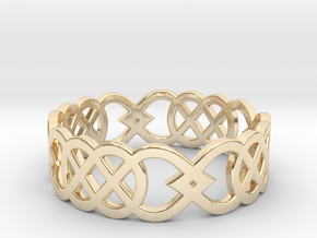Size 9 Knot C3 in 14K Yellow Gold