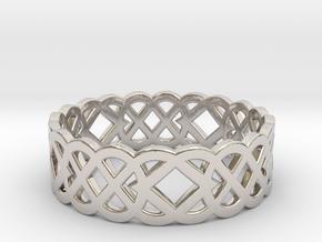 Size 8 Knot C4 in Platinum