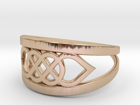 Size 8 Knot C6 in 14k Rose Gold Plated Brass