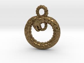 Ouroboros Pendant in Natural Bronze