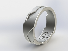 Ring Size N 1/2 (US Size 6 3/4) in Natural Silver
