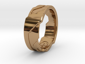 Ring Size N 1/2 (US Size 6 3/4) in Polished Brass
