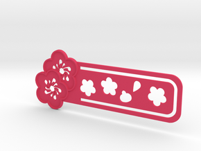 Sakura Bookmark Model B in Pink Processed Versatile Plastic