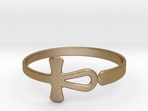Anhk Bracelet 75 in Polished Gold Steel