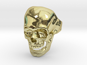 The Original Skull Ring in 18k Gold Plated Brass