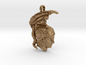 Ares, god of war, pendant in Natural Brass