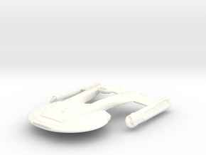 USS Akira - (re-sized) in White Processed Versatile Plastic