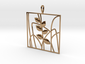 Plant and grass Alhendin pendant in Polished Brass