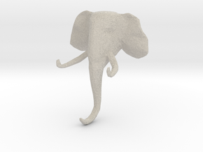 Elephant Clothes-Hanger in Natural Sandstone