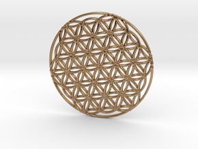 Flower of Life in Polished Brass