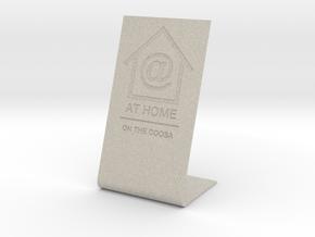 At Home display — custom job in Natural Sandstone